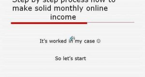 How to make solid monthly online income